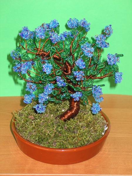 Бисероплетение деревья бонсай схема.